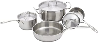 Winware 7pc Heavy Gauge Premium Stainless Steel Cookware Set