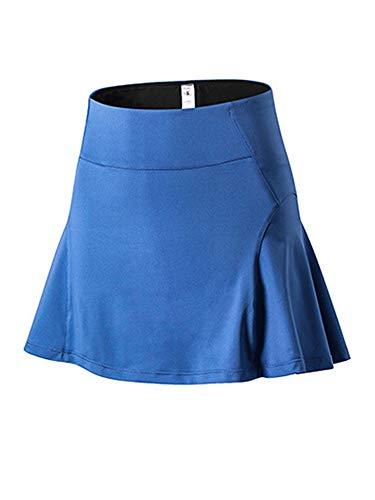 Sexy Dance Falda de tenis de golf plisada para mujer, pantalones cortos, para deporte, gimnasio, yoga, entrenamiento, minifalda, color azul, M
