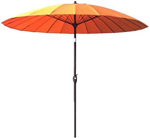 ZMHVOL Al Aire Libre Paraguas Parasol, sombrilla, Paraguas jardín al Aire Libre Parasol for Terraza/Patio/Balcón Mesa de café / (Color: Gris Humo) ZDWN (Color : Orange)