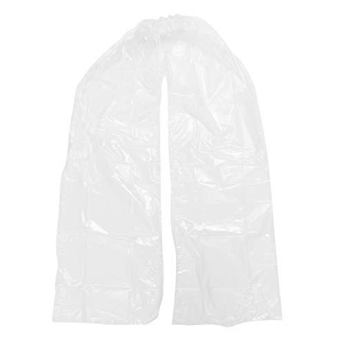 TENDYCOCO Pantaloni da Pioggia in Plastica Abiti da Pioggia Impermeabili Pantaloni da Pioggia Protettivi Usa E Getta Copriscarpe Costume per Esterno (Bianco)