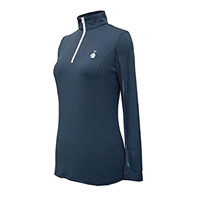 HR Farm Women's Ice Feel Quick Dry Performance Rider Longsleeve Shirt (Gray, Medium) by HR Farm