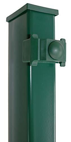 DS-Zaunpfahl K60/40/1400 grün, für Zaun 830mm hoch, mit Klemmhalter