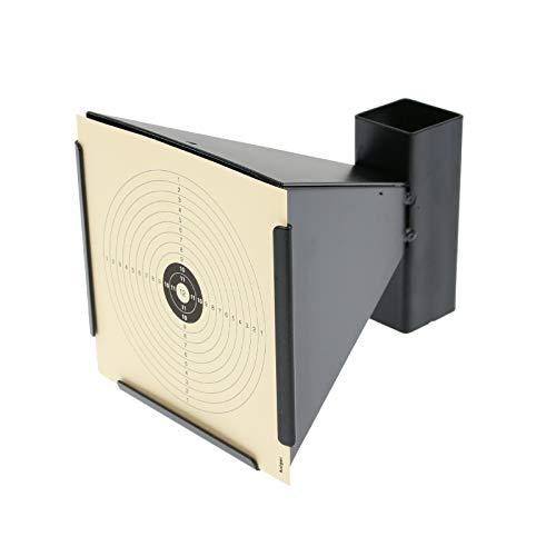 OpTacs - Kugelfang Scheibenkasten 14x14 cm Trichter aus Metall für Luftgewehr Zielscheibe