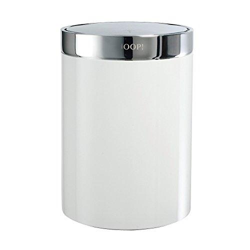 JOOP Bathroom - Chromeline - Badeimer - Chrom / Weiß mit Schwingdeckel