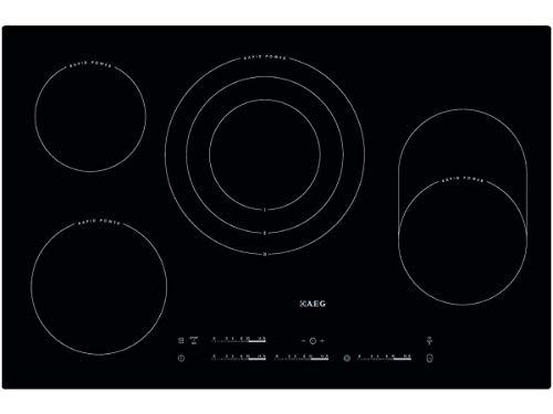 AEG HK854870I-B Glaskeramik-Kochfeld/Elektro-Kochfeld/autark/Hob²Hood/rahmenlos / 77 cm