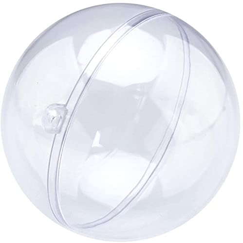 Juego de 10 Bolas de plstico Transparente para decoracin de Bodas - 6/7/10/12 cm - Bolas de rbol Huecas para Colgar - Bolas Que se Pueden Abrir