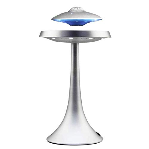 FGVDJ Licht Magnetschwebebahn UFO Bluetooth Ton, LED-Blitz drahtlose Schwimmend, Wiederaufladbare Maglev Lautsprecher Subwoofer Geeignete Mikrofon, Wasserdicht