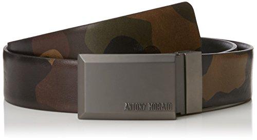Antony Morato schouderband van leer H35 mm riem, heren, groen (legergroen), 115 (fabrikantmaat: XL)