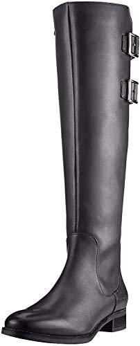 Clarks Netley Ride, Botines Mujer, Negro (Black Leather Black Leather), 38 EU