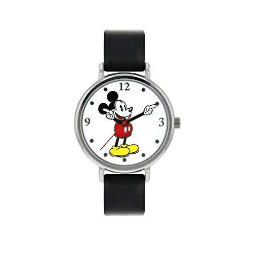 Disney Mixte Analogique Classique Quartz Montre avec Bracelet en Cuir MK1315