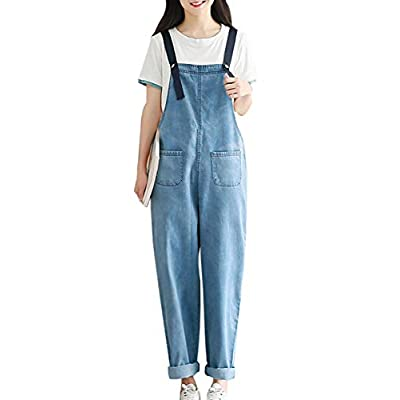 Women's Denim Jeans Overalls with Removable Straps