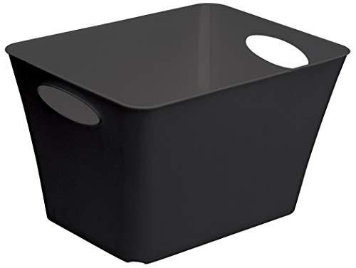 Rotho Living Aufbewahrungsbox 44 l, Kunststoff (PP), schwarz, 44 Liter (52,6 x 39,2 x 31 cm)