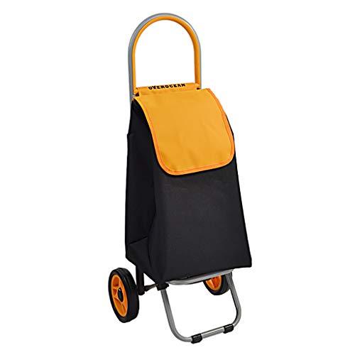 RTTgv Einkaufstrolleys Einkaufswagen Faltende leichte Einkaufswagen-Einkaufstasche (Farbe : D)