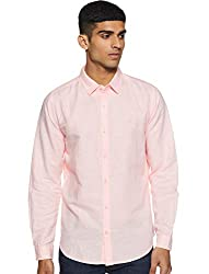 United Colors of Benetton Mens Solid Slim Fit Casual Shirt