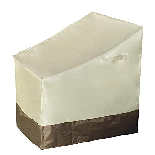 Anjinguang Cubiertas de muebles de jardín a prueba de polvo anti-UV durable 210D plata recubierto impermeable Oxford paño al aire libre cubierta de muebles para todas las estaciones