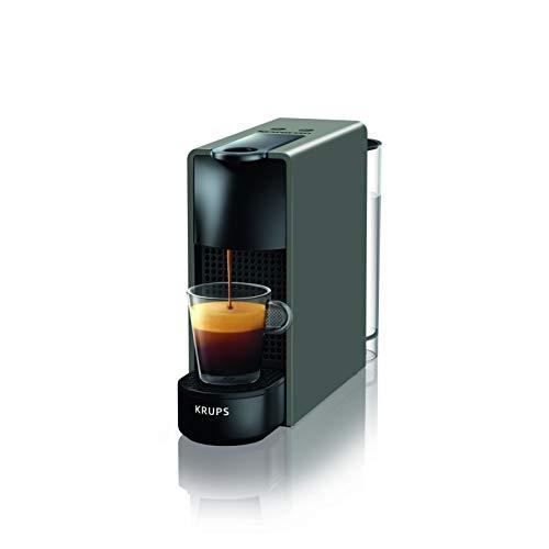Krups Nespresso XN1108 Essenza Mini Kaffeekapselmaschine, 1260 Watt, schwarz, 0,6 Liter