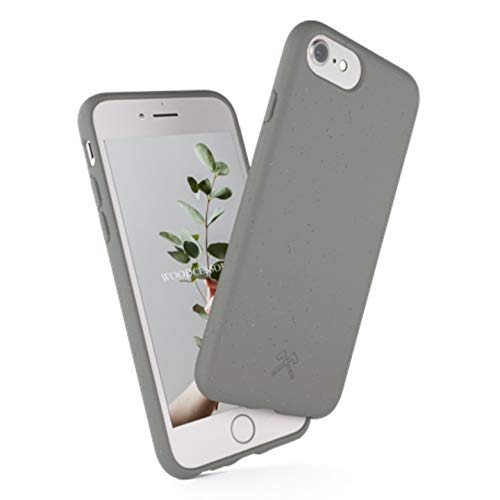 Woodcessories - Funda ecológica Compatible con iPhone SE (2020) / 8/7 / 6 s - Biodegradable, Hecha de Plantas (Gris)