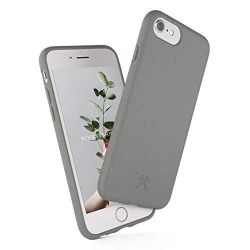 Woodcessories - Funda ecológica Compatible con iPhone SE (2020) / 8/7 / 6 s - Biodegradable, Hecha de Plantas (Gris)