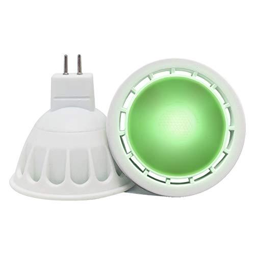 VARICART GU5.3 12V Lampadina LED COB Colore Verde, 6W MR16 Angolo Raggio 60°, 50W Alogeno Equiv. 500lm, Lampada Faretto Speciale per Illuminazione Decorativa Atmosfera Ambientale (Confezione da 2)