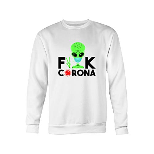Fuck The Virus Stay At Home Sudadera Blanca Unisex Size L