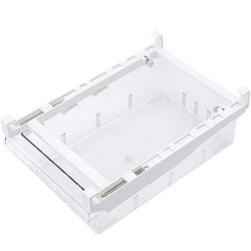 Cajón organizador para frigorífico retráctil, con cajones extraíbles, frigorífico ajustable, caja de almacenamiento para frigorífico (1 rejilla)