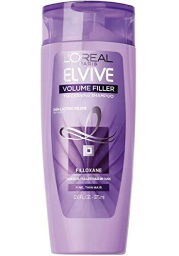 LOreal Paris Advanced Haircare - Volume Filler Thickening Shampoo, 12.6 FL OZ (Pack of 3)