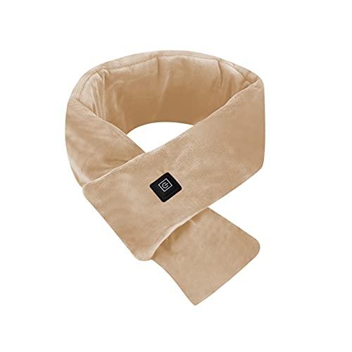 Voupuoda Bufanda de calefacción eléctrica unisex con calefacción por USB, abrigo para el cuello con calefacción con banco de energía, 80 cm de longitud