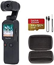 Feiyu Pocket Gimbal Camera 3 Axis Gimbal Stabilizer with 4K Smart Camera 6-Axis Hybrid Stabilization 120 ° Ultra-Wide Angle 4K/60fps Video 8X Slow Motion Video 270 Run-time