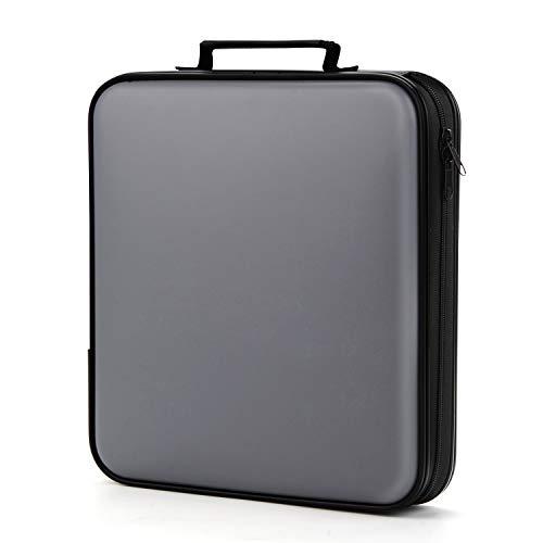 COOFIT CD Tasche, DVD Tasche CD Aufbewahrung 160 CD/DVD Tasche DVD Lagerung DVD Case VCD Wallets Speicher Organizer Hard Plastik Schutz DVD Lagerung