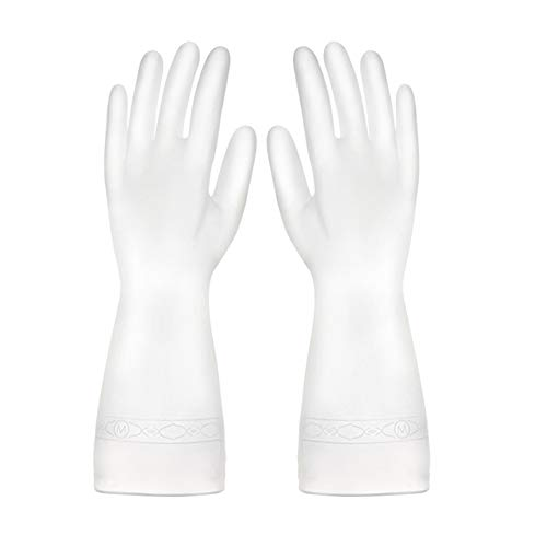HONGFUTONG guantes de limpieza de PVC domésticos impermeables y reutilizables, manguito largo,...