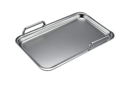 Bosch HEZ390512 Zubehör für Kochfelder / Teppan Yaki / Made in Germany / für FlexZonen und CombiZonen / induktionsgeeignet / 42 x 27 cm / Mehrschichtmaterial mit Aluminiumkern