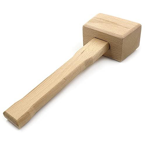 ZYYXB Mallet Mazo de madera natural multifuncional madera de haya martillo de mano carpintero carpintero mazo de bricolaje herramientas de fabricación de suministros de artesanía