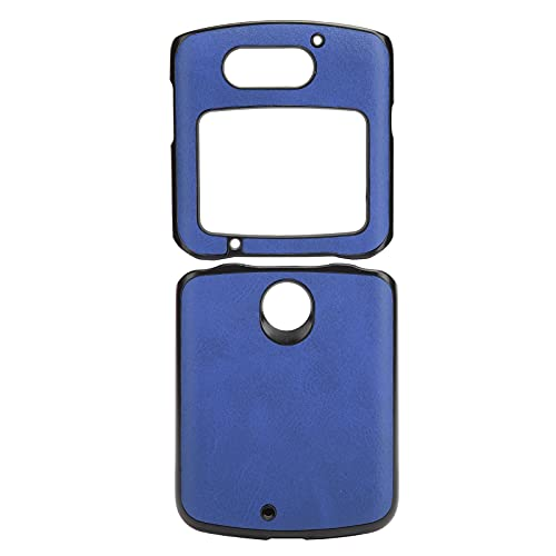 Handyhüllen Stoßfeste Handy Lederhülle Handy Lederhülle Hülle für Motorola Handy Lederhülle für Motorola Razr 5G(Blue)