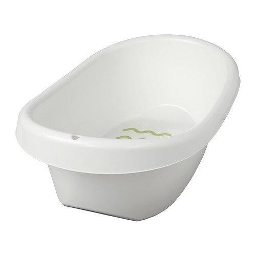Ikea Lattsam, 2 bagnetti per bambini, bianco, verde