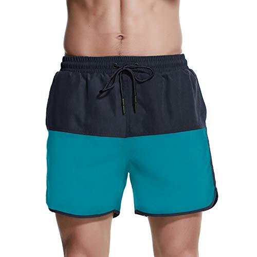 JINSHI Hombre Bañador Playa Poliéster Pantalon Corto