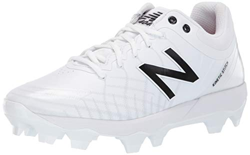 New Balance Men's 4040 V5 TPU Molded Baseball Shoe, All White/White, 9.5 M US