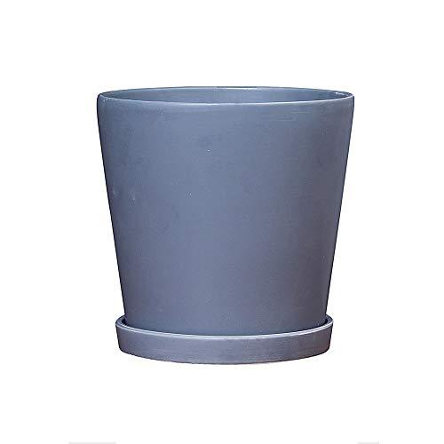 Thwarm Gray Indoor Bloempot Home Decoratie Keramische Vaas Landelijk Leven Container Eenvoudig Ontwerp Planter Grijs Keramische Planter Pot 3 Afmetingen Bloempot Succulente Plant Potten met Gat