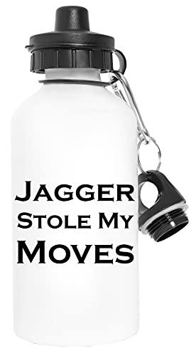 Jagger Stole My Moves Sport Resa Vit Vattenflaska Metall Läckagesäker Travel White Water Bottle Metal Leak-Proof