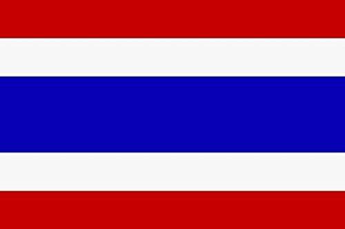 U24 Aufkleber Thailand Flagge Fahne 8 x 5 cm Autoaufkleber Sticker
