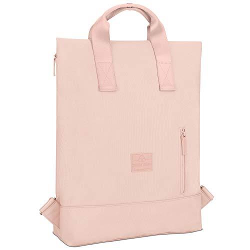 Rucksack Damen & Herren Rosa - Johnny Urban IVY Backpack aus recycelten PET-Flaschen für Uni Büro Schule Freizeit & Business, Tasche Laptop 15 Zoll, Rucksäcke Wasserabweisend