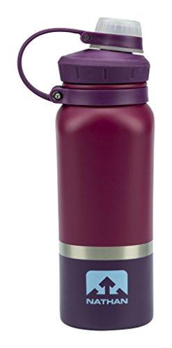 Nathan Sports Hammerhead Stahl Lackiert Dreifarbige Wasser Flasche–510–ns4440, NS4440, Sangria/Magenta Purple/Sky Blue, 18 oz