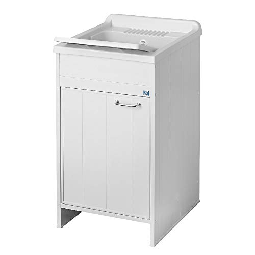 Mobile Lavatoio Da Esterno In Resina 50 X 50 Completo Di Asse E Vasca