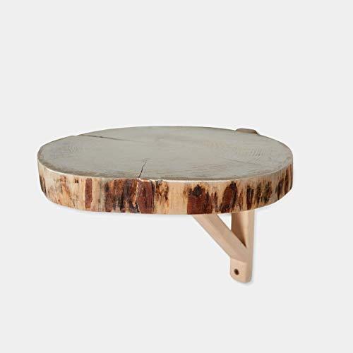 Rebajas oferta Estante, mesita noche, balda, leja a pared de rodaja natural de árbol de 30-35x 2,5