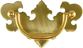 Chippendale Polished Brass Drawer Pull Handle Centers: 3