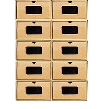 WZQZ 10 unids Cartón Cajas de Almacenamiento de Zapatos Cajón Plegable Gabinete Organizador Cartón de cartón Cajas de Almacenamiento de Zapatos para Oficina doméstica Sala de Estudio