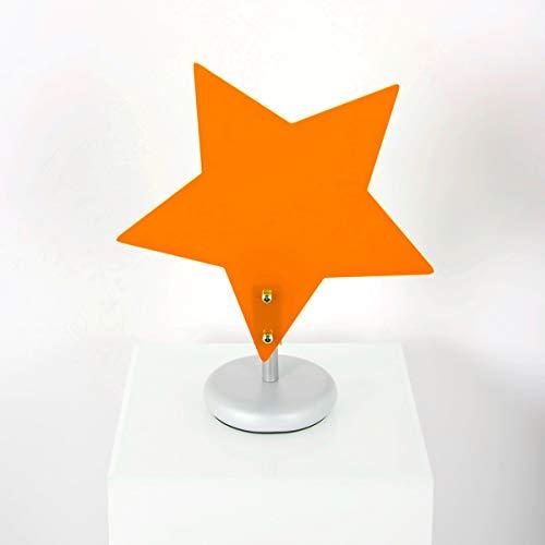 Lampadario STELLA Arancione Abatjour da comodino per Cameretta Bambini lampada in plexiglass made in italy