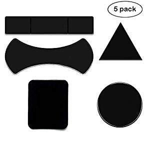 NOFDA 5pcs Magic Nano Rubber Pad Anti Slip Mat Sticker No Trace Car Mobile Phone Holder Lazy Bracket Pods Sticky Gel Pad Wholesale (5 Pack)