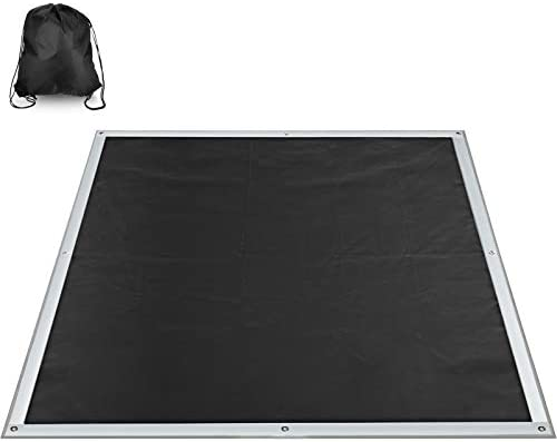 Square Fire Pit Mat Fire Pit Deck Protector BBQ Grill Mat with Storage Bag on Grass to Protect product image