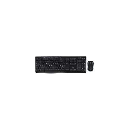Logitech MK270 Combo Clavier et Souris sans Fil pour Windows, Connexion 2.4 GHz, Souris sans Fil Compacte, 8 Touches de Raccourci/Multimédia, Batterie Longue Durée 2 Ans, PC/Portable, AZERTY Français