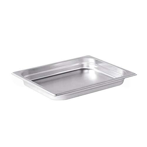 Pentole Agnelli Bassine Gastronorm 1/2, Acier Inoxydable 26.5x32.5x2 cm